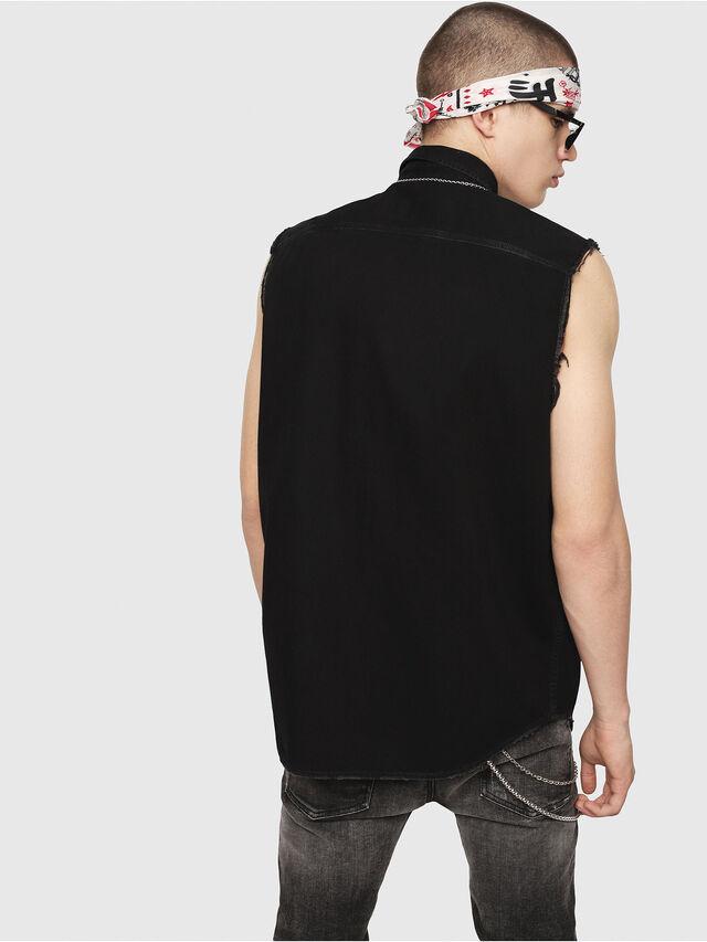 Diesel - D-KIRU, Negro - Camisas de Denim - Image 2