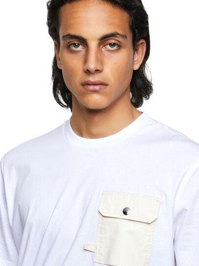 Diesel - T-JUSMER, Blanco - Camisetas - Image 3