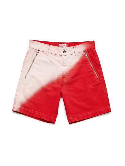Diesel - GR02-P303, Rojo/Blanco - Shorts - Image 1