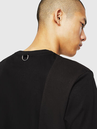 Diesel - T-TOMI, Negro - Camisetas - Image 5