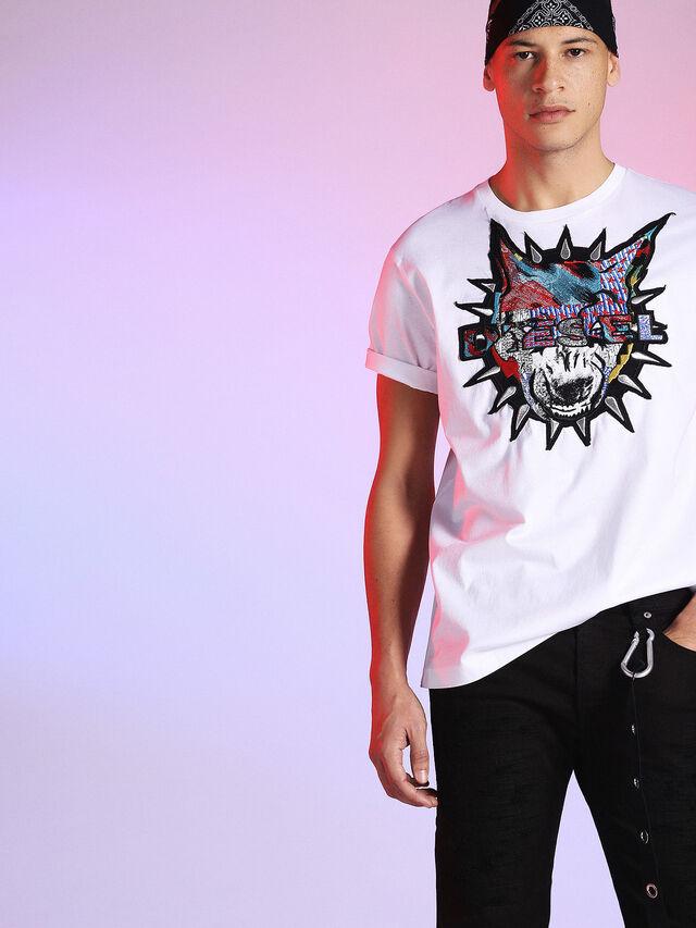 Diesel - LU-T-JUST, Blanco - Camisetas - Image 3