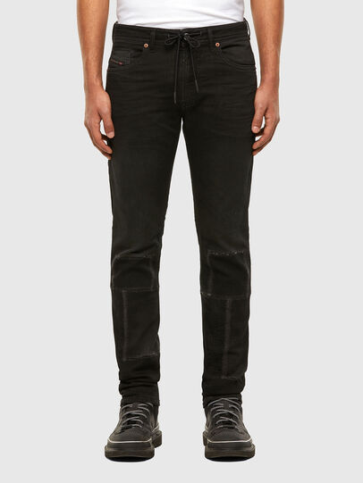Diesel - Thommer JoggJeans 009IC, Negro/Gris oscuro - Vaqueros - Image 1