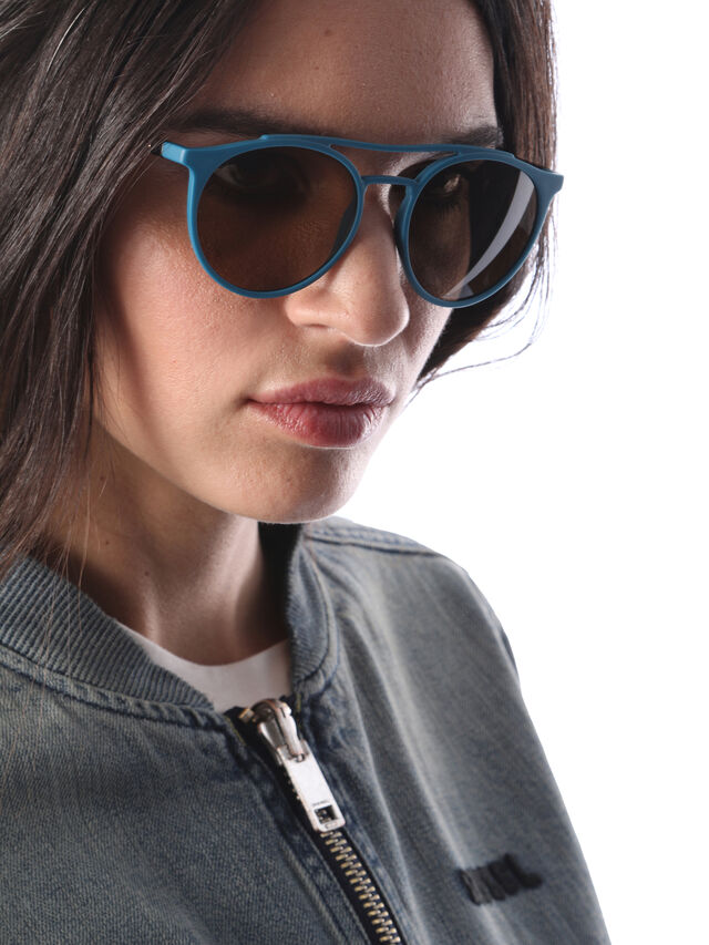 Diesel - DM0195, Azul - Gafas de sol - Image 6