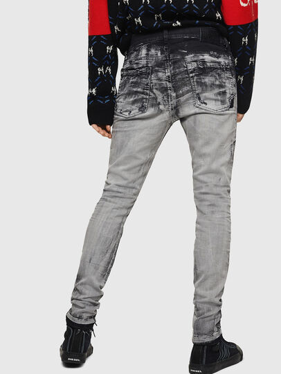 Diesel - D-Reeft JoggJeans 084AH, Negro/Gris oscuro - Vaqueros - Image 2