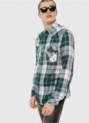 S-EAST-LONG-F, Verde/Gris - Camisas
