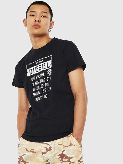Diesel - T-DIEGO-S1, Negro - Camisetas - Image 1