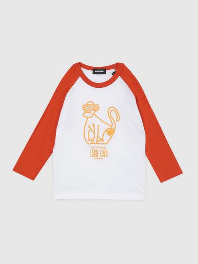 Diesel - TBALYB-R, Blanco/Naranja - Camisetas y Tops - Image 1