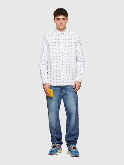 Diesel - S-RILEY-TM-LS, Blanco - Camisas - Image 4