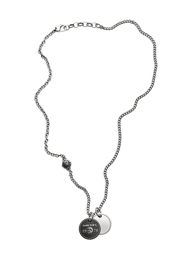 Diesel - NECKLACE DX1091, Plata - Collares - Image 1