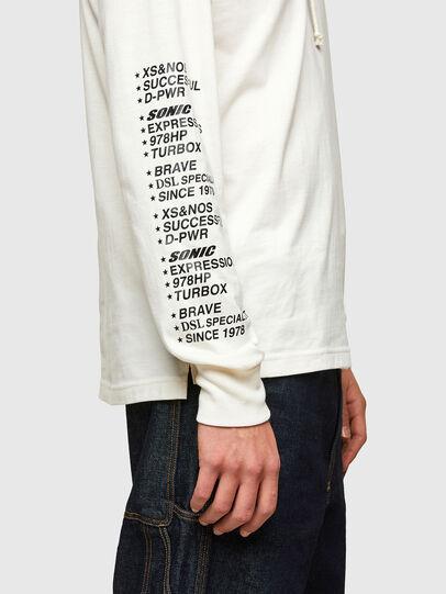 Diesel - T-JUST-LS-HOOD-SLITS, Blanco - Camisetas - Image 4