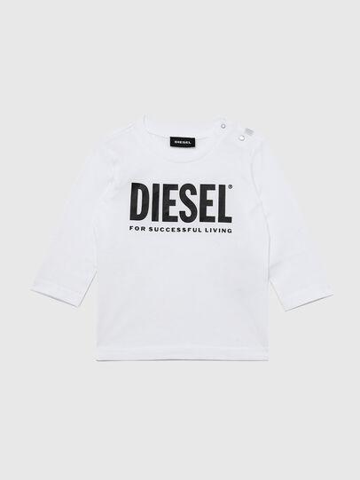 Diesel - TJUSTLOGOB ML, Blanco - Camisetas y Tops - Image 1