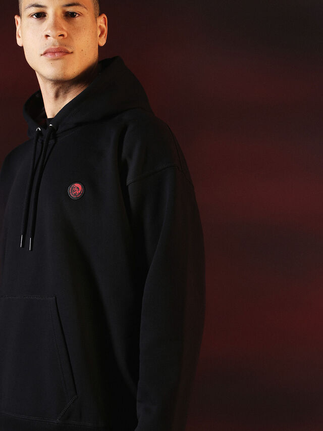 Diesel - DVL-SWEAT-SPECIAL COLLECTION, Negro - Sudaderas - Image 6