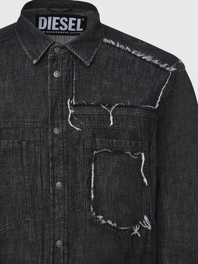 Diesel - D-NESKY, Negro - Camisas de Denim - Image 3