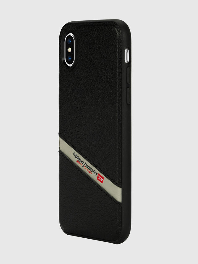 Diesel - DIESEL LEATHER CO-MOLD CASE FOR IPHONE XS MAX, Negro - Fundas - Image 5
