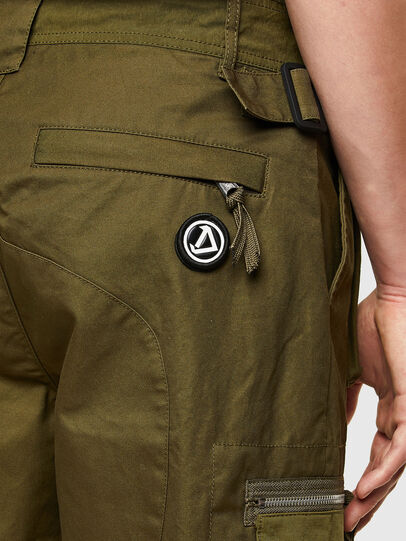 Diesel - P-CYAN-SHORT, Verde Militar - Shorts - Image 3