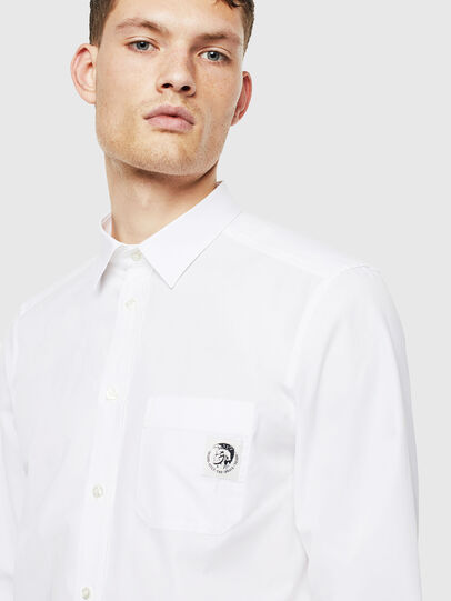 Diesel - S-BILL-POCKET, Blanco - Camisas - Image 3
