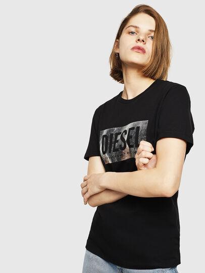 Diesel - T-FOIL, Negro - Camisetas - Image 1