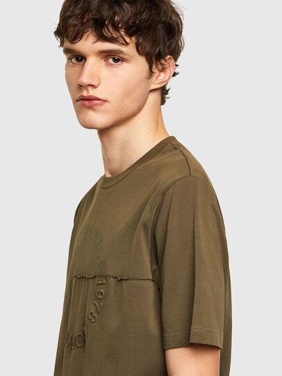 Diesel - T-JUSTEMB, Verde Militar - Camisetas - Image 3