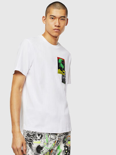 Diesel - T-JUST-SLITS-J18, Blanco - Camisetas - Image 1