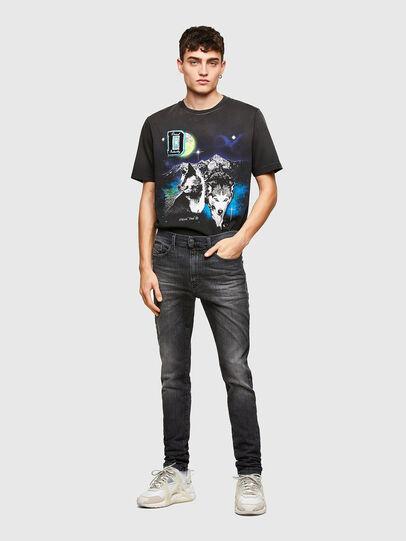 Diesel - D-Reeft JoggJeans® 009SU, Negro/Gris oscuro - Vaqueros - Image 5