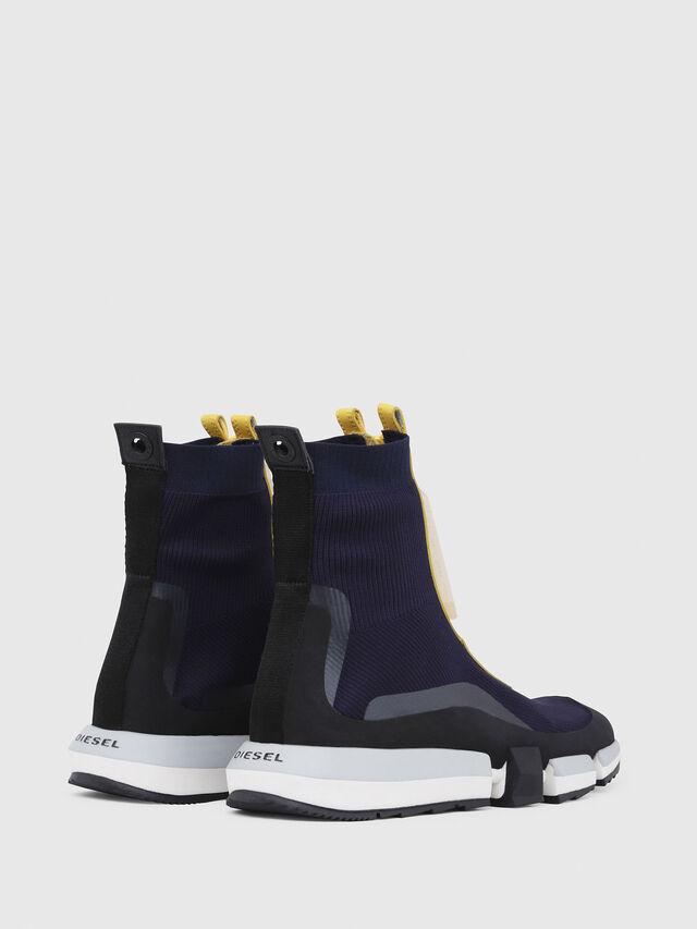 Diesel - H-PADOLA MID ZIP, Azul/Amarillo - Sneakers - Image 3