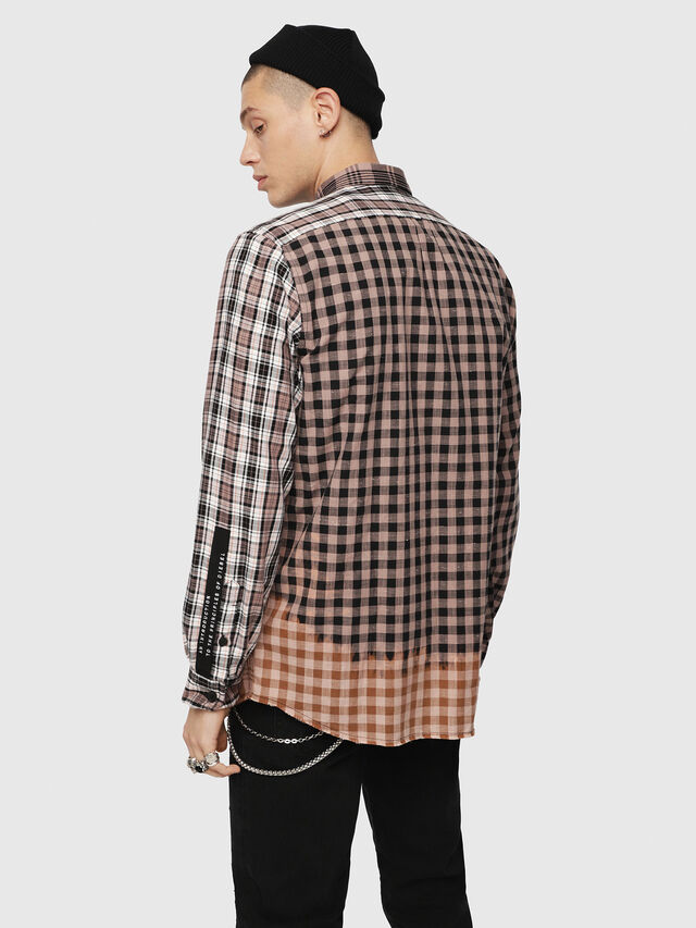 Diesel - S-MADOKA, Negro/Rosa - Camisas - Image 2