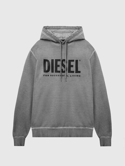 Diesel - S-GIR-HOOD-DIVISION-, Gris - Sudaderas - Image 1