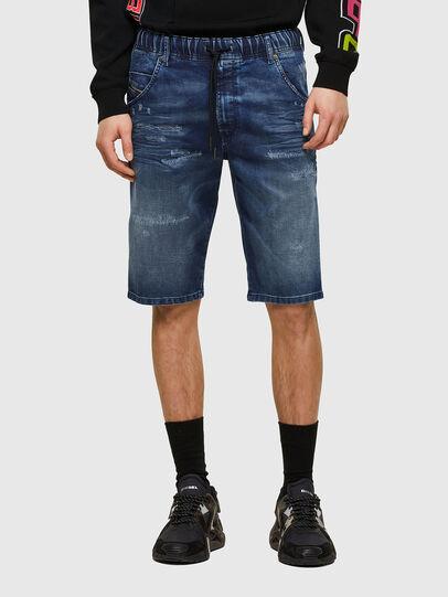 Diesel - D-KROOSHORT JOGGJEANS, Azul medio - Shorts - Image 1