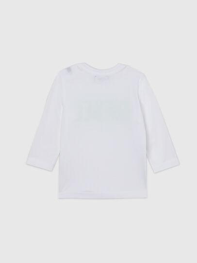 Diesel - TJUSTLOGOB ML, Blanco/Verde - Camisetas y Tops - Image 2