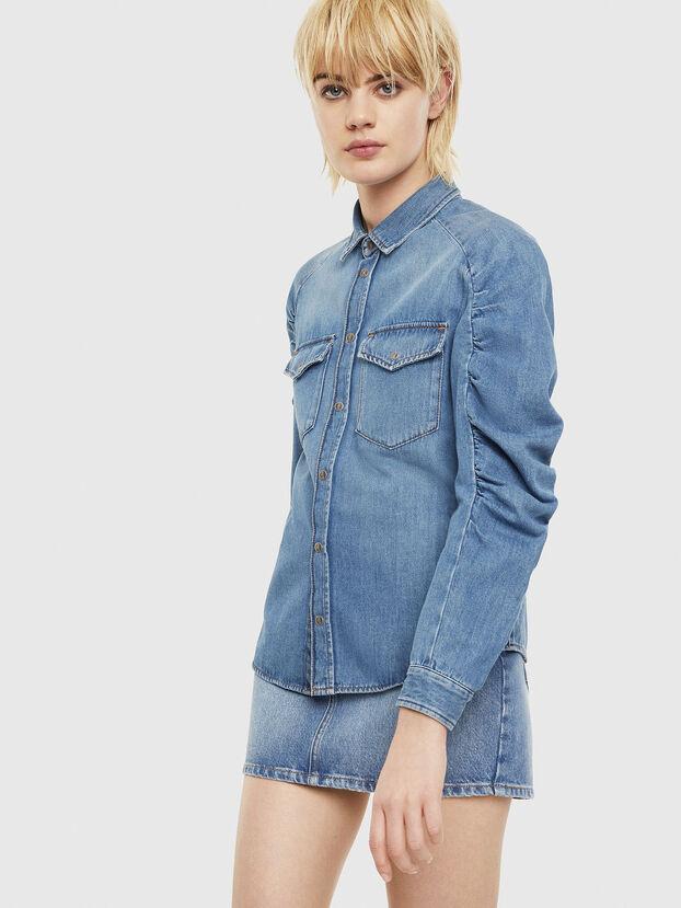 DE-RINGY-R, Azul Claro - Camisas de Denim