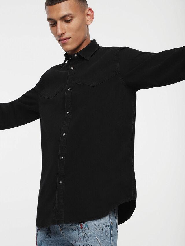 Diesel - D-PLANET, Black Jeans - Camisas de Denim - Image 1