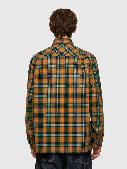 Diesel - S-JESS-CHECK, Naranja/Verde - Camisas - Image 2