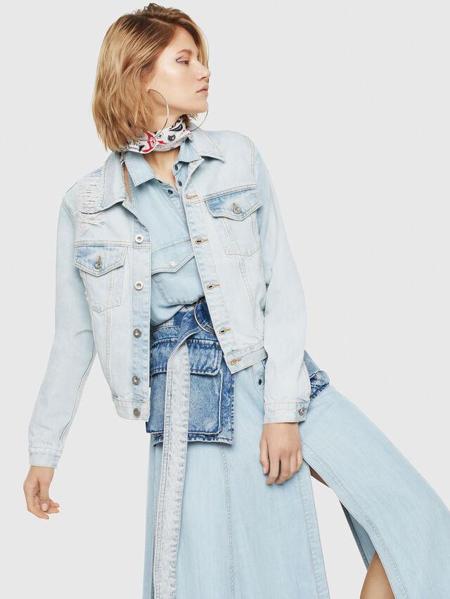Diesel - DE-VELVET, Blue Jeans - Chaquetas de denim - Image 1