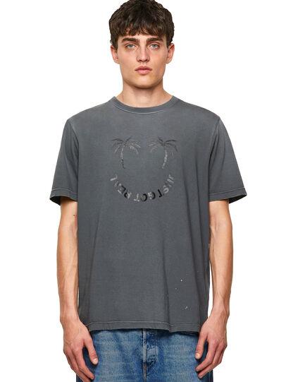 Diesel - T-JUST-B64, Gris - Camisetas - Image 1