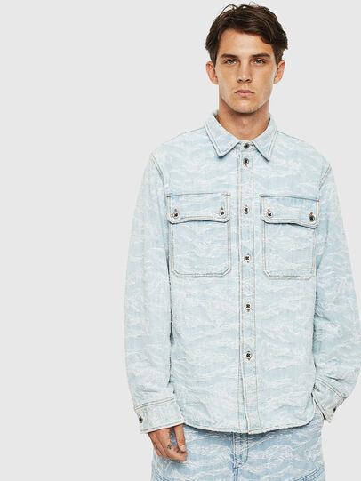 Diesel - D-JESSY, Azul Claro - Camisas de Denim - Image 1