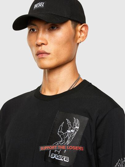 Diesel - T-JUST-LS-A9, Negro - Camisetas - Image 3
