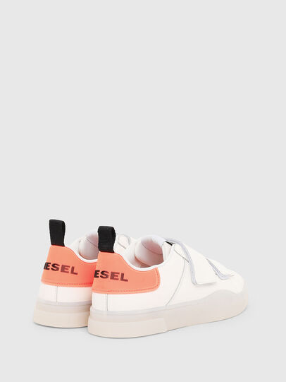 Diesel - S-CLEVER LOW STRAP W, Blanco/Rosa - Sneakers - Image 3