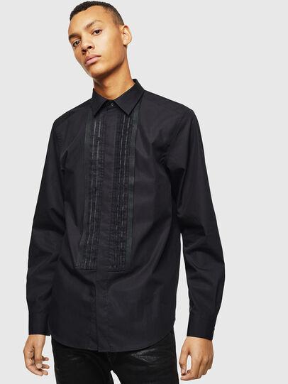 Diesel - S-PLIS, Negro - Camisas - Image 1