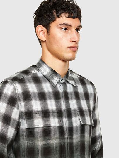 Diesel - S-KEITH, Negro/Blanco - Camisas - Image 3