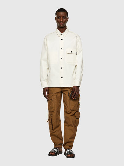 Diesel - S-BUNNELL-A, Blanco - Camisas - Image 5