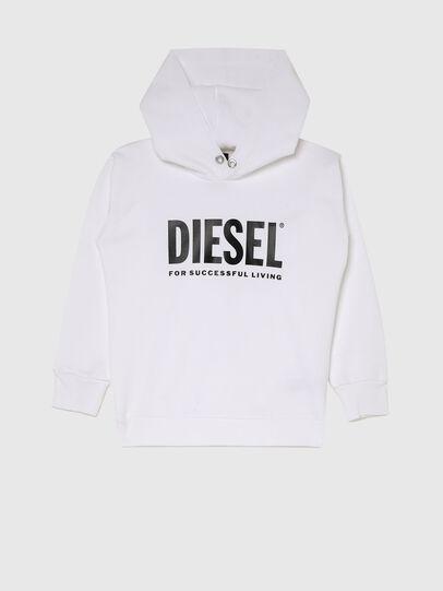 Diesel - SDIVISION-LOGOX OVER, Blanco - Sudaderas - Image 1