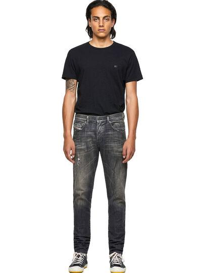 Diesel - D-Strukt JoggJeans® 09B54, Negro/Gris oscuro - Vaqueros - Image 5