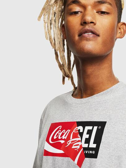Diesel - CC-T-JUST-COLA, Gris - Camisetas - Image 5