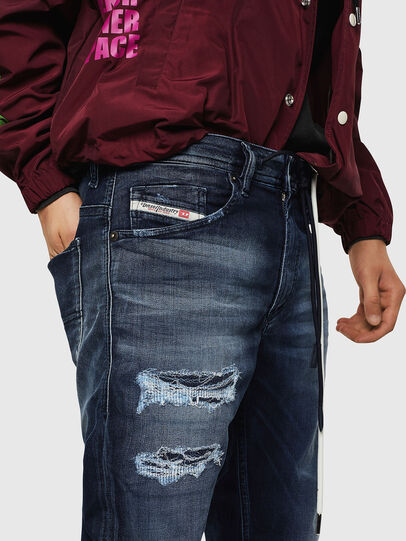 Diesel - Thommer JoggJeans 069JF, Azul Oscuro - Vaqueros - Image 3