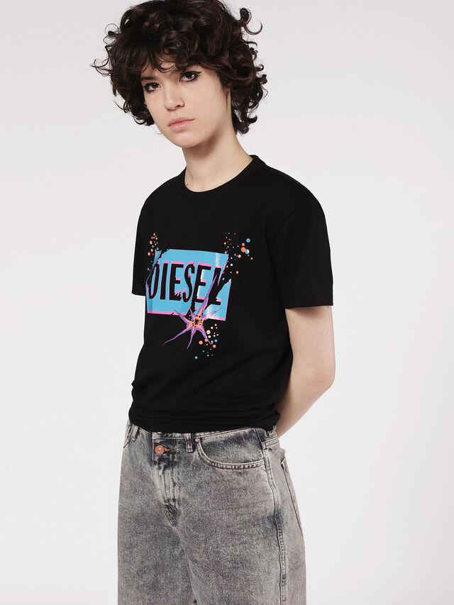 Diesel - T-EXPLO, Negro - Camisetas - Image 1