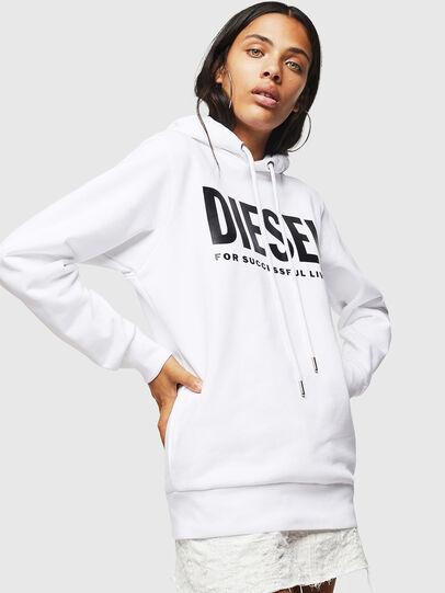 Diesel - F-GIR-HOOD-DIV-LOGO-, Blanco - Sudaderas - Image 1