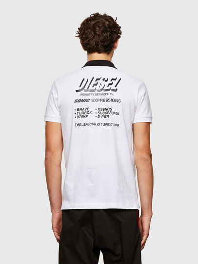 Diesel - T-RANDY-NEW-A1, Blanco - Polos - Image 2