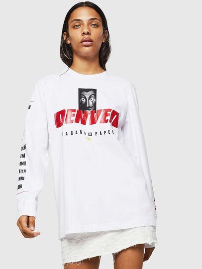 Diesel - LCP-T-JUST-LS-DENVER, Blanco - Camisetas - Image 2