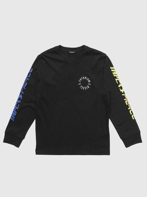 TJUSTLSY1, Negro - Camisetas y Tops