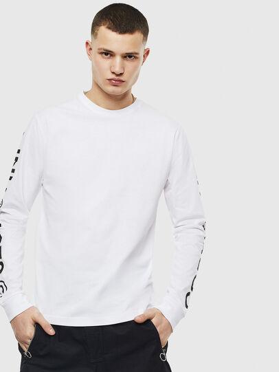 Diesel - T-JUST-LS-T14, Blanco - Camisetas - Image 1